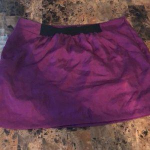 Purple satin skirt